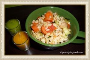 blé aux légumes et champignons 2